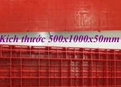Tấm lót sàn sân khấu 500x1000mm - pallet nhựa lót sàn