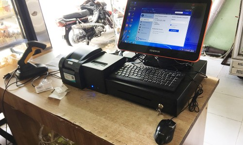 Bán máy tính tiền cảm ứng trọn bộ cho tiệm bánh Kem ở Nghệ An
