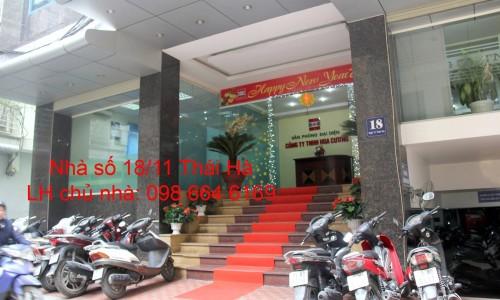 Chủ nhà cho thuê 45m2 văn phòng tại phố Thái Hà. Giá rẻ - Dịch vụ tốt