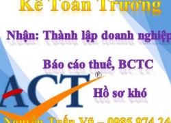 Thành lập doanh nghiệp, báo cáo thuế, BCTC