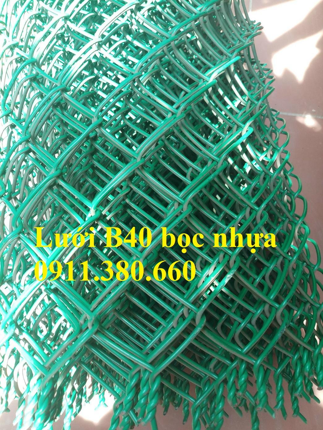 Lưới B40 bọc nhựa. Khổ 1mx15m/cuộn- NMH01