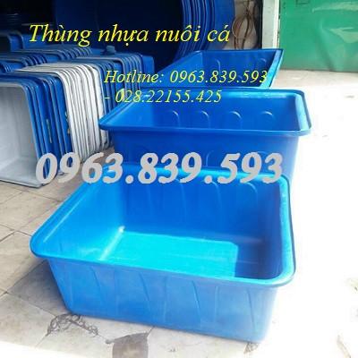 Cc thùng nhựa nuôi cá, thùng nhựa đặc, thùng nhựa 2 lớp siêu bền
