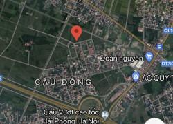 Bán lô đất 100m giá 830 triệu Câu Đông QUang Trung AN lão HP
