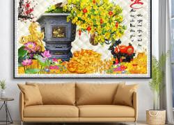 Bức tranh hoa mai - Tranh gạch dán tường