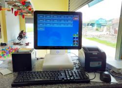 Combo máy tính tiền cảm ứng cho quán Trà chanh tại Quảng Trị