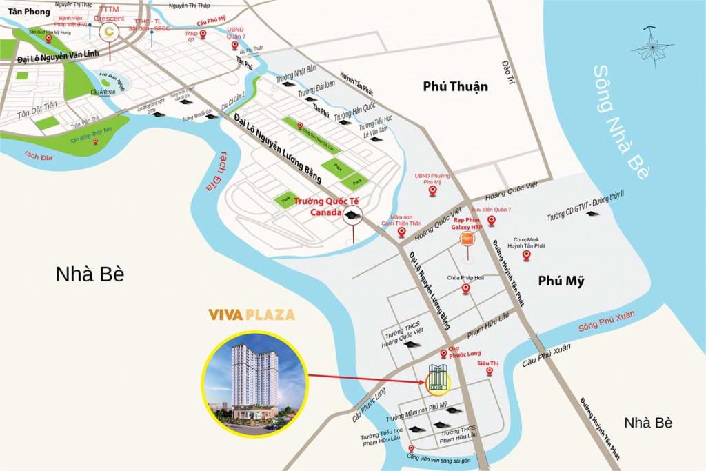Bán căn hộ chung cư cao cấp VIVA Plaza khu Phú Mỹ Hưng-Quận 7
