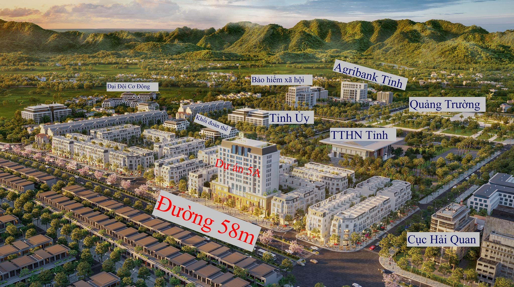 Bán nhà phố liền kề tại quảng trường km5, đề thám, Cao Bằng