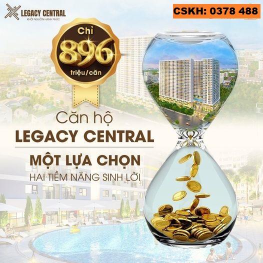 LEGACY CENTRAL-khởi nguồn hạnh phúc. 250 triệu đã sở hữu căn hộ TP.Thuận An, tỉnh Bình Dương