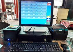 Máy tính tiền cảm ứng trọn bộ 2 màn hình cho Quán Cà phê tại Quảng Trị