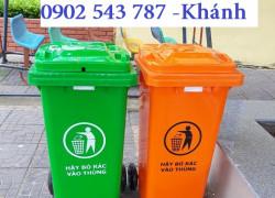Báo giá thùng rác 240 lít màu vàng