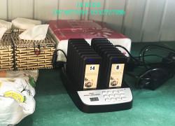 Bộ rung gọi khách không dây 16 tay cho quán trà sữa- trà chanh tại Quảng Trị