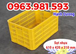 Sọt nhựa 3T1, sóng nhựa HS004, sọt hoa quả
