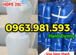 Can nhựa HDPE 20L, can nhựa nguyên sinh