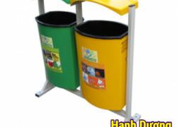 Thùng rác composite 80L, thùng rác nhựa, thùng rác treo đôi