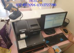 Lắp đặt máy tính tiền bằng mã vạch cho Shop mỹ phẩm tại Yên Bái