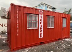 Container văn phòng 20 feet có máy lạnh