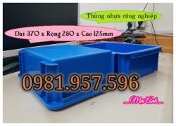 Thùng nhựa công nghiệp 10L, thùng chữ nhật 10L có nắp