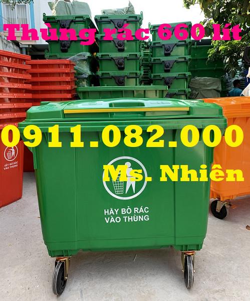 0911082000- Chuyên cung cấp thùng rác nhựa giá rẻ mùa dịch- thùng rác 15L 25L 120L 240L giá rẻ