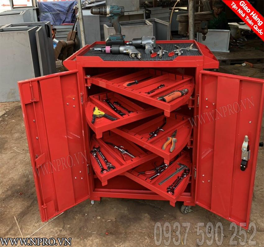 Tủ đồ nghề 2 cánh 6 ngăn - Tủ đựng đồ nghề giá rẻ tại Hà Nội