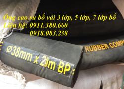 Ống cao su bố vải dẫn xăng dầu, dẫn chất thải công nghiệp- 10 bar, 20 bar