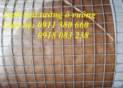Lưới trát tường ô vuông ô 10x10mm khổ 1mx30m/ cuộn, hàng có sẵn giao toàn quốc