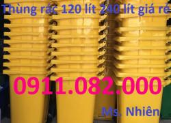 Công ty thùng rác nhựa giá rẻ tại tiền giang, thùng rác 120 lít 240 lít 660 lít. lh 0911082000