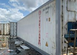 container lạnh 40feet chứa 32 tấn hàng