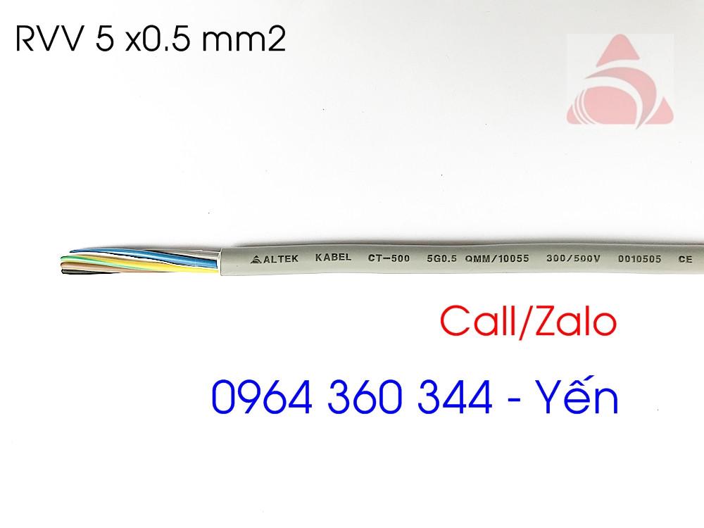 Cáp điều khiển altek kabel 5x0.5, 5x0.75, 5x1.0, 5x1.5 (chống nhiễu) chính hãng