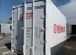 container lạnh 20feet sơn mới màu trắng