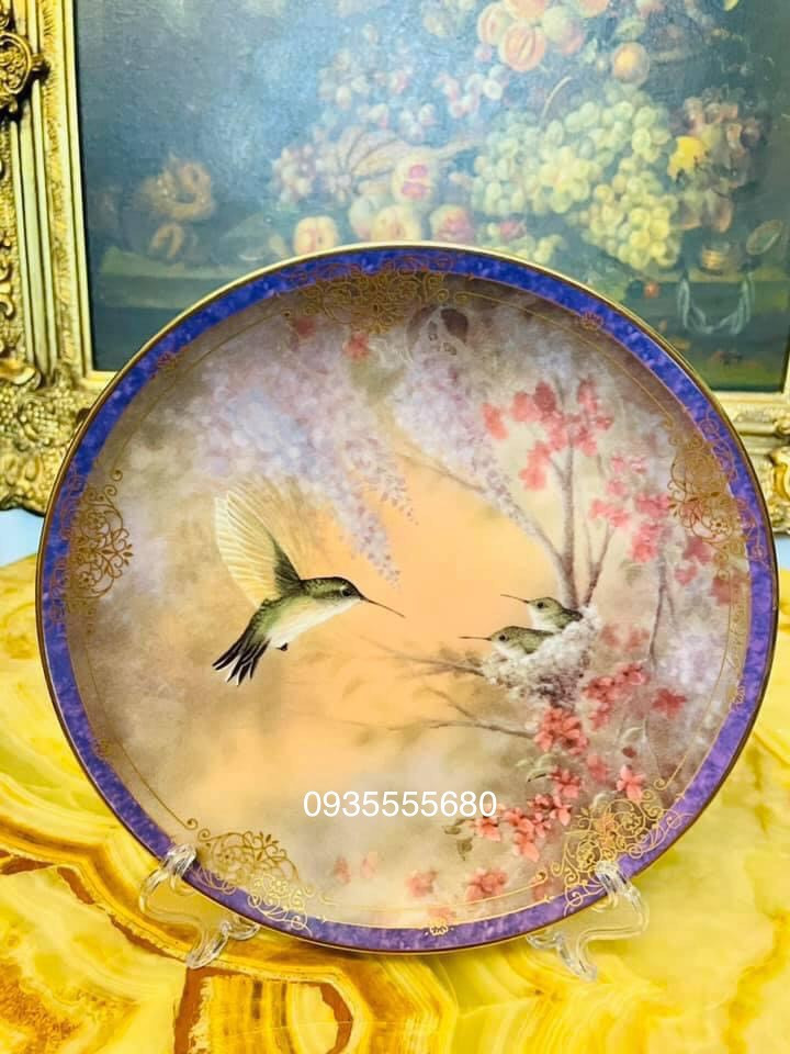 Giao lưu bộ đĩa gốm hàng pháp mùa xuân
