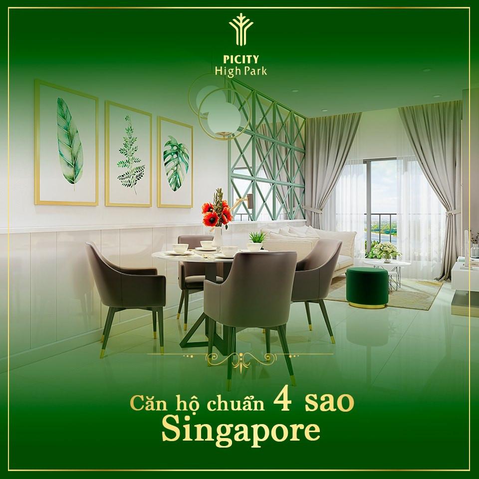 Chung cư Picity High Park 65m2 - 2PN cao cấp - xanh chuẩn Singapore 750 triệu