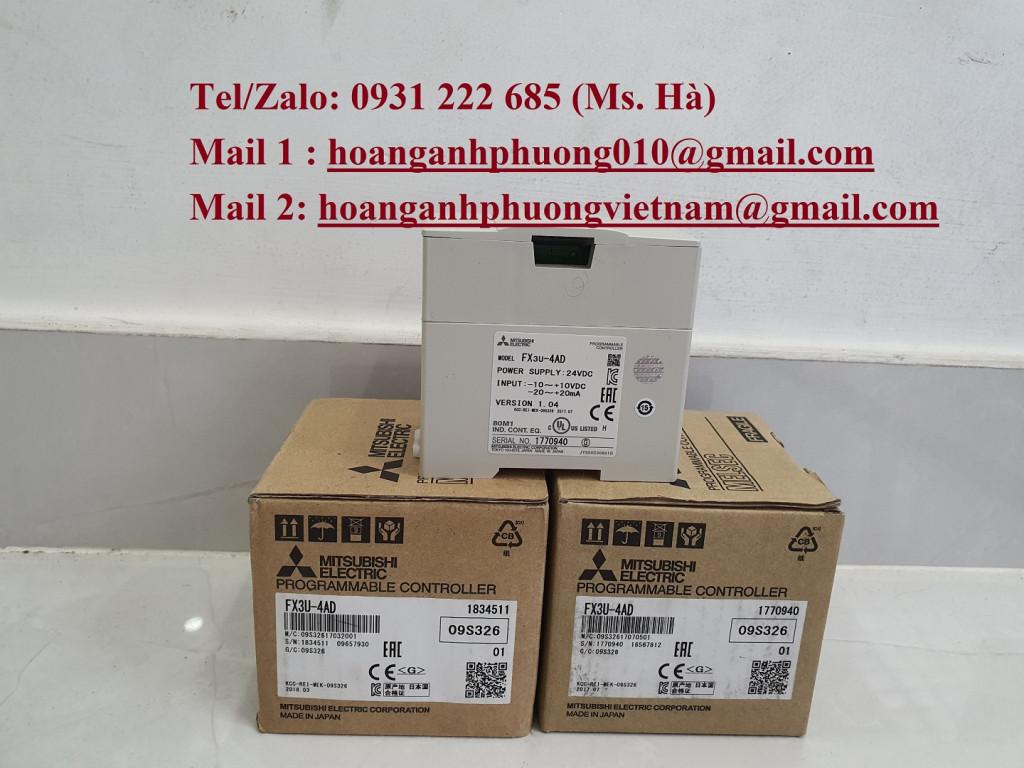 Chuyên cung cấp hàng mitsubishi FX3U-4AD chính hãng