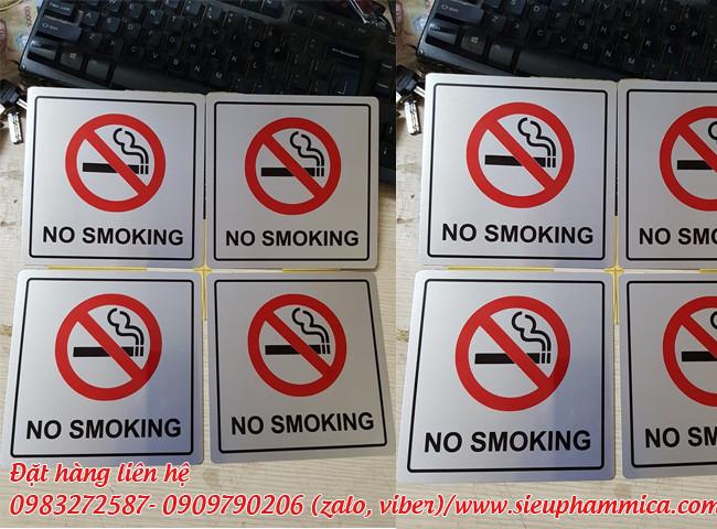 Bảng mica cấm lửa và bảng cấm hút thuốc mica