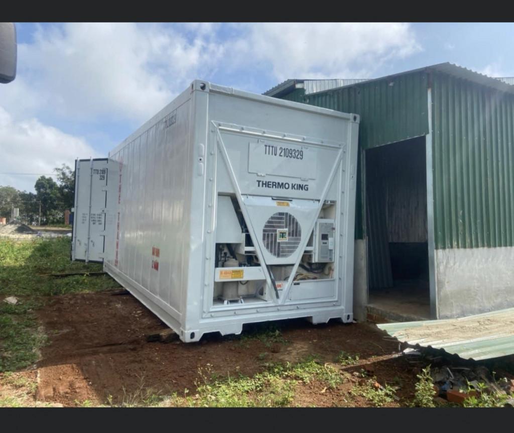 Container lạnh làm kho trữ đông thực phẩm