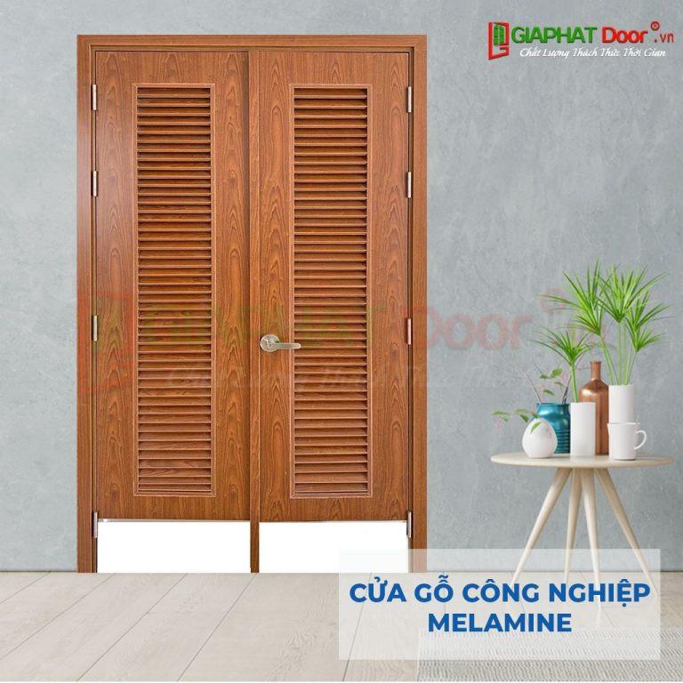 Cửa gỗ công nghiệp cao cấp Melamine 2 cánh