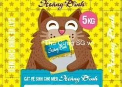 bán cát vệ sinh cho mèo giá rẽ thương hiệu Hoàng Đình