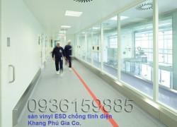 Thi công hoàn thiện sàn ESD chống tĩnh điện toàn quốc