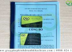 Dịch vụcông bố chất lượng khẩu trang N95tại C.A.O Media