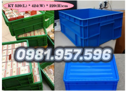 Hộp nhựa B8, hộp đựng vật tư công nghiệp, hộp nhựa có nắp