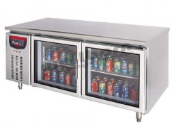 Xem ảnh gốc  Tủ lạnh 2 cánh kính SLLZ4-420D-2BL